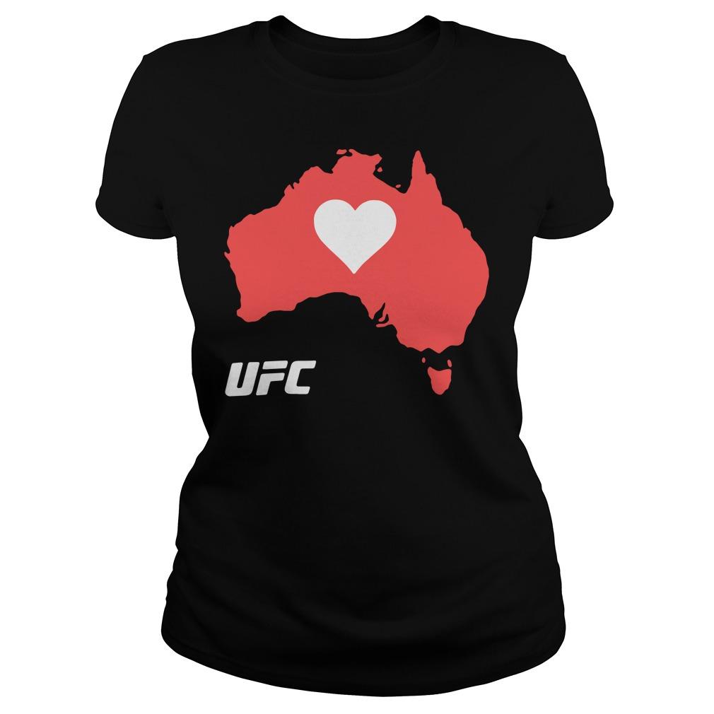 UFC Supports Australia Shirt ladies tee
