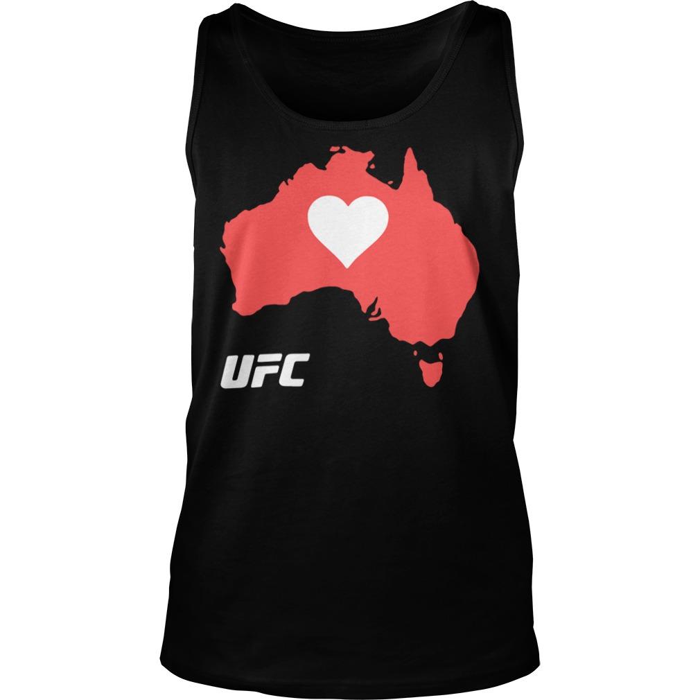 UFC Supports Australia Shirt tank top