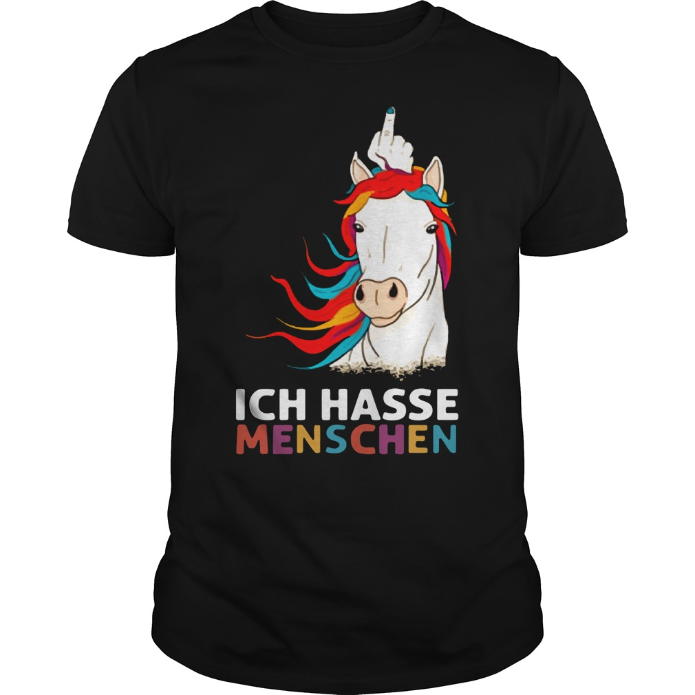 Unicorn Ich Hasse Menschen Shirt