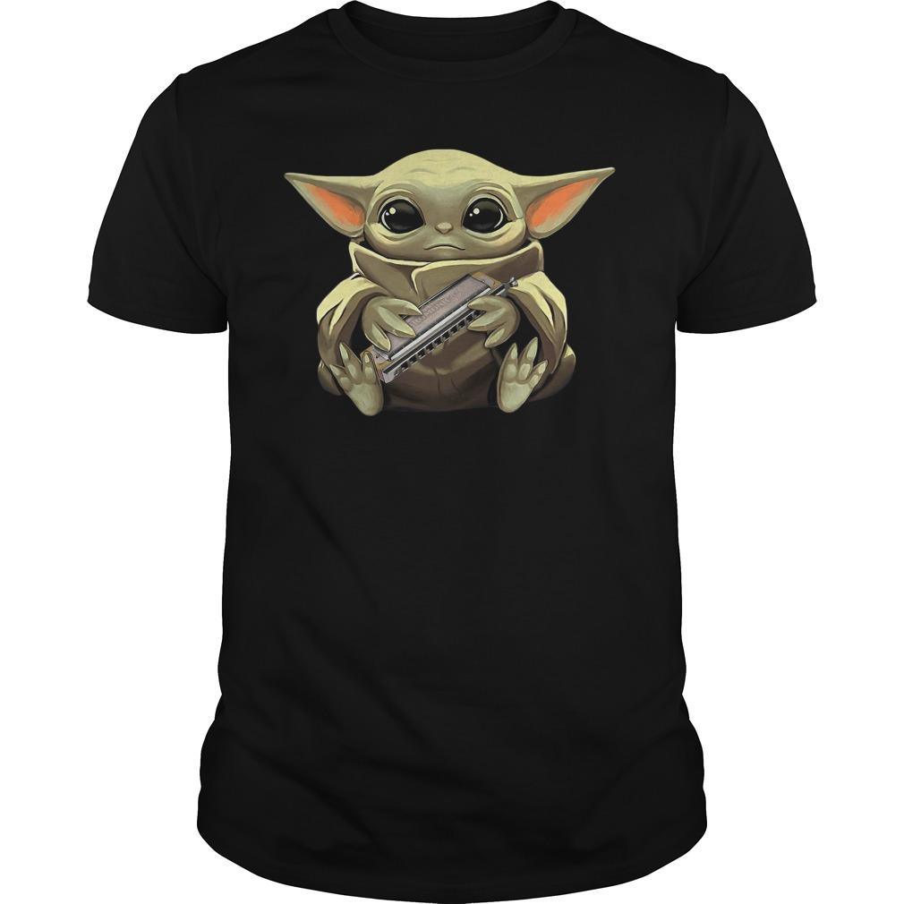 Baby Yoda Hug Harmonica Shirt