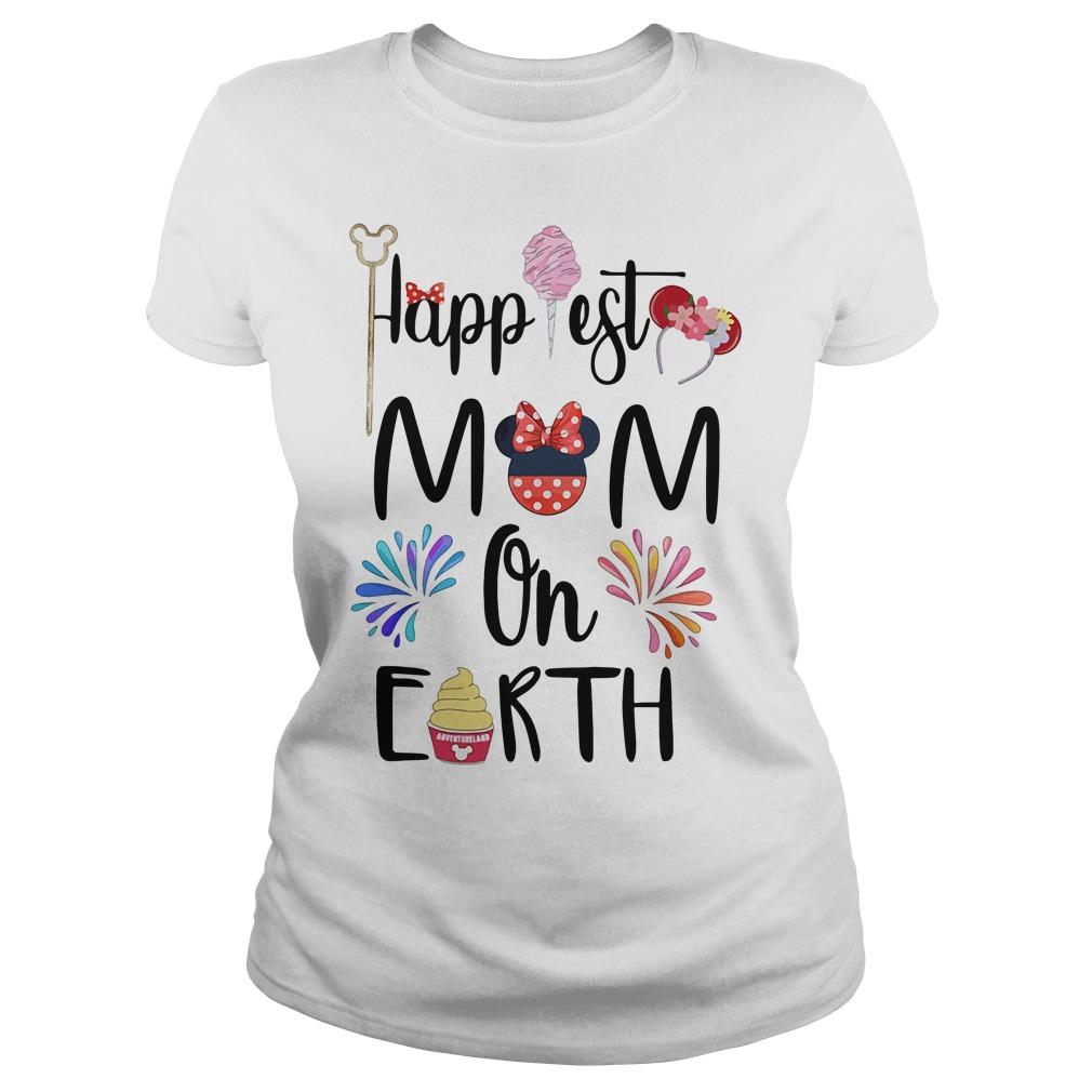 Happiest Mom On Earth Shirt ladies tee
