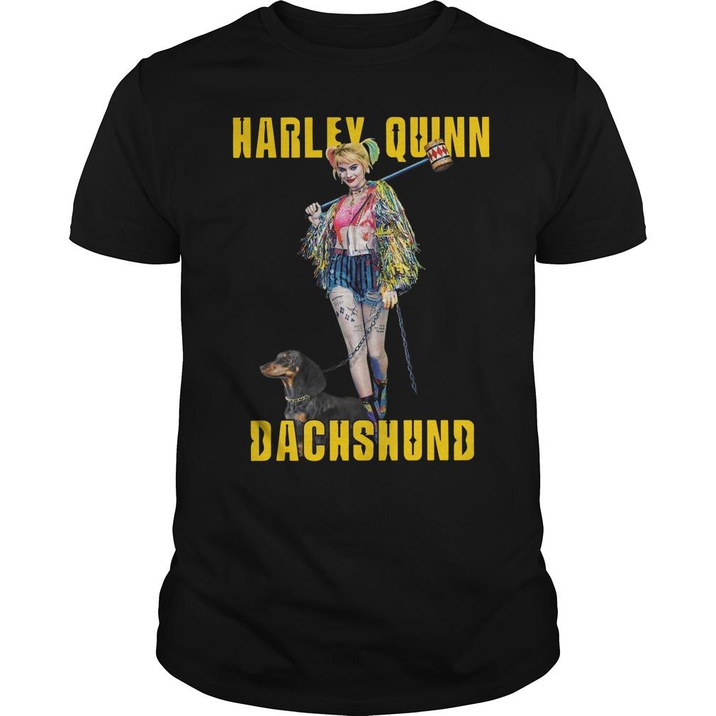 Harley Quinn Dachshund Shirt