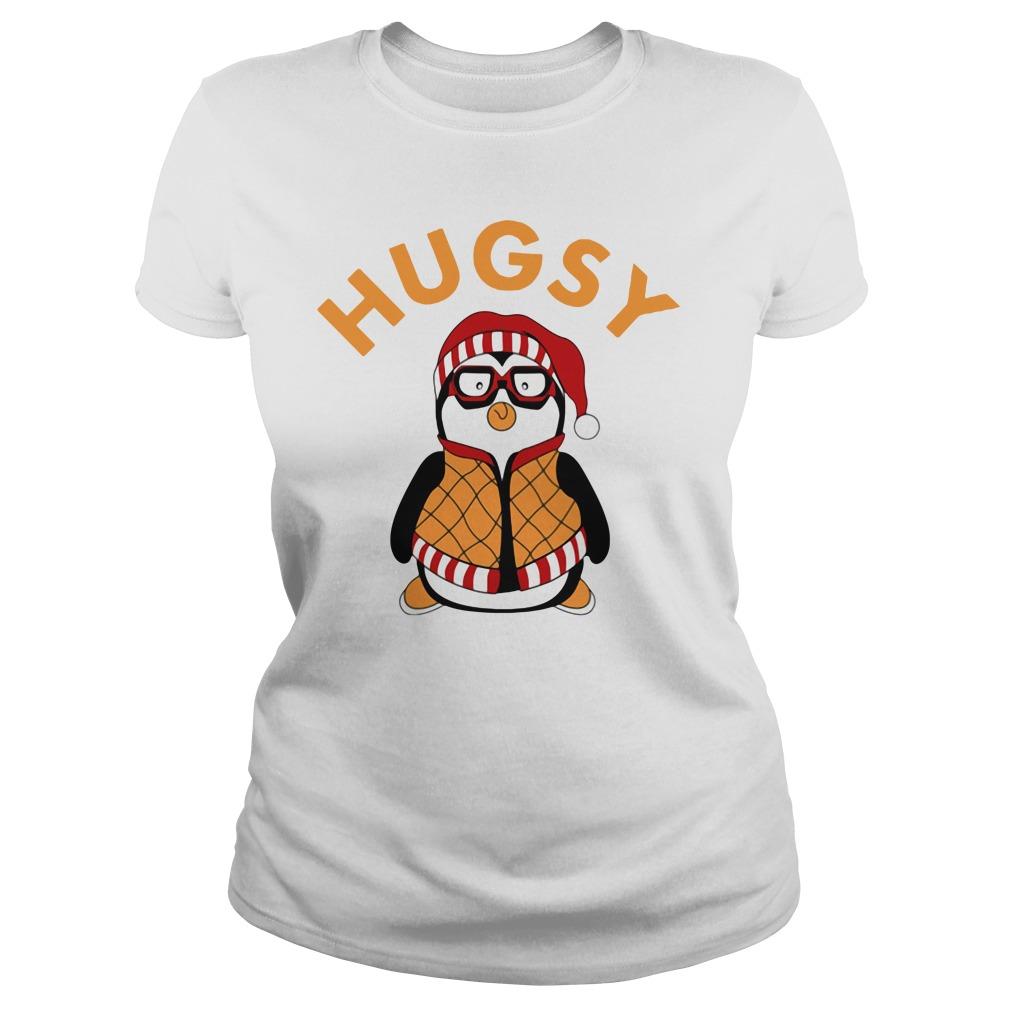 Joey's Friend Hugsy Penguin Shirt ladies tee