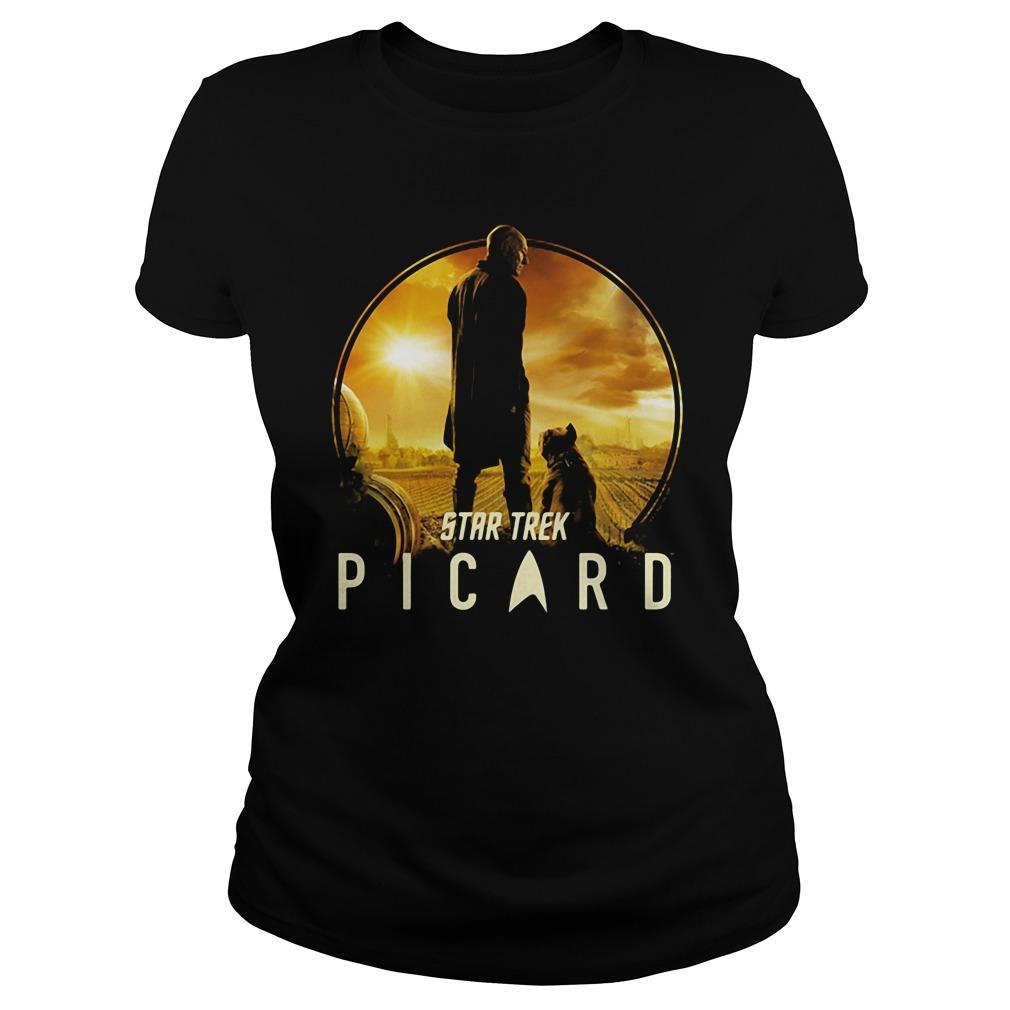 Picard and Number One Star Trek Shirt ladies tee