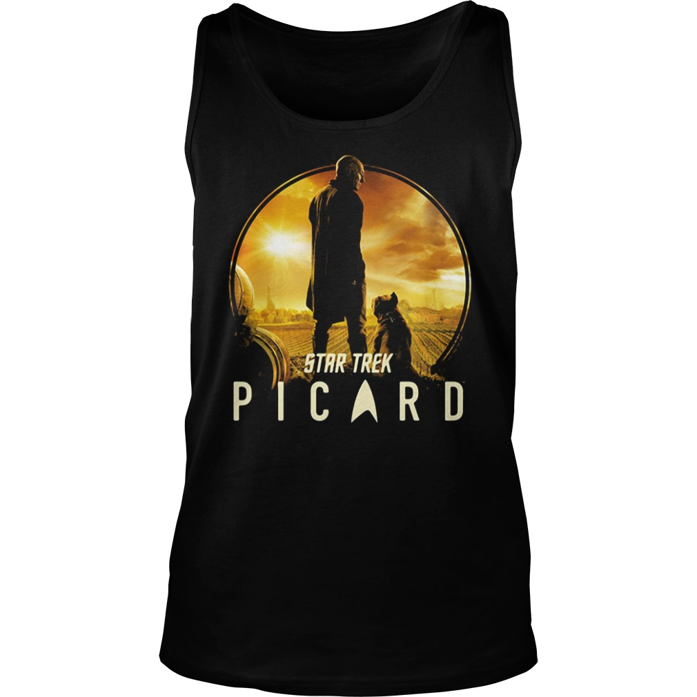 Picard and Number One Star Trek Shirt tank top