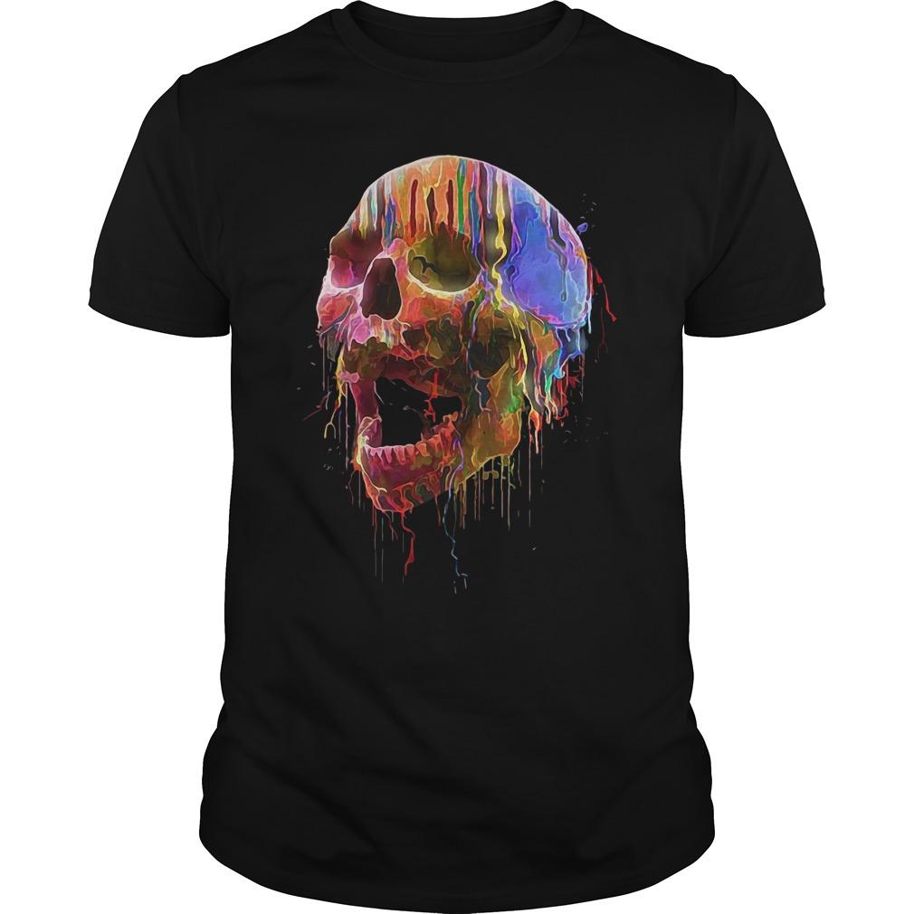 Skull Colorful Neon Funny Shirt