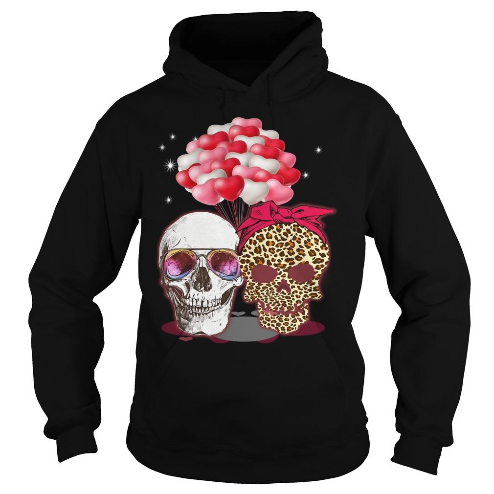 Skull Couple Heart Balloon Shirt hoodie