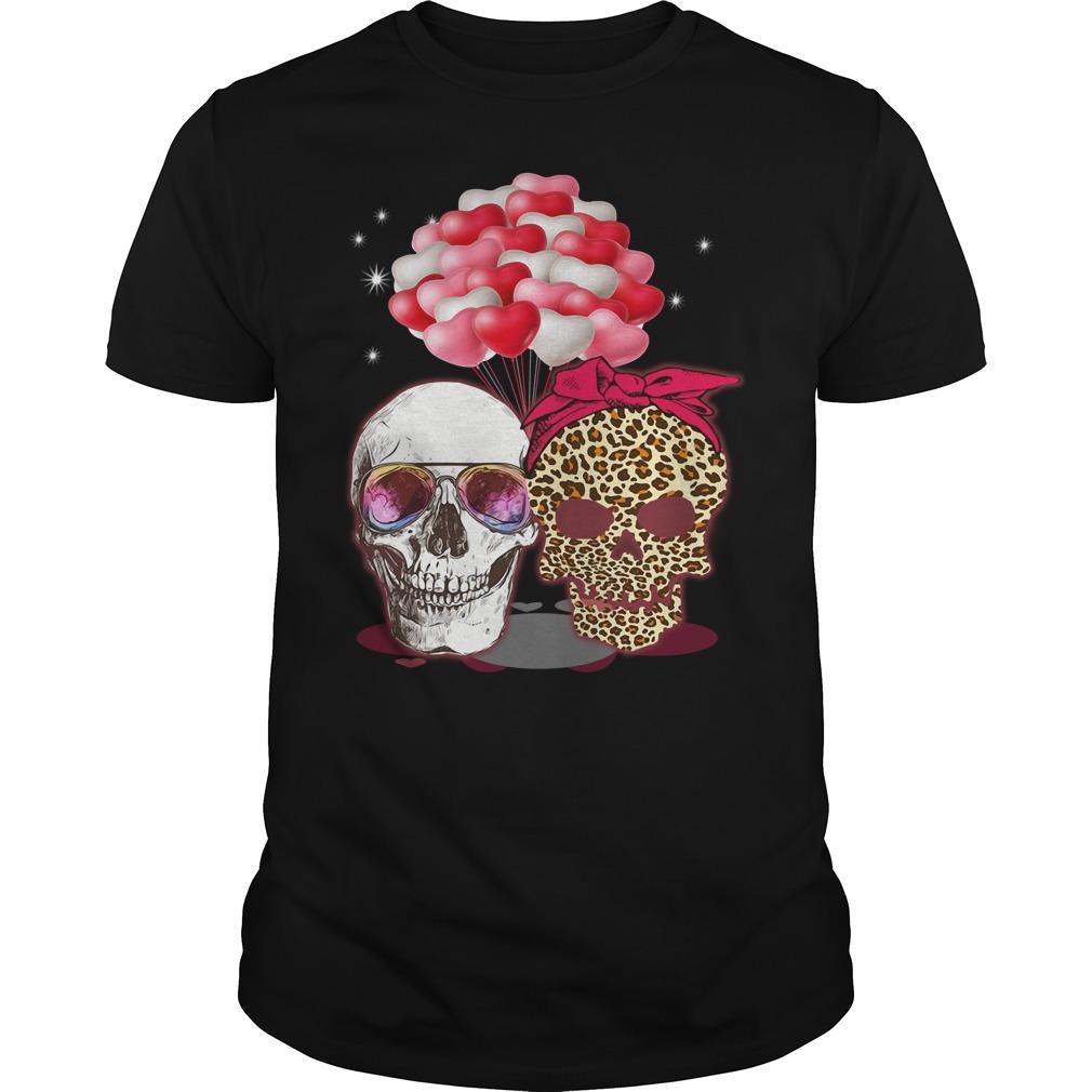 Skull Couple Heart Balloon Shirt