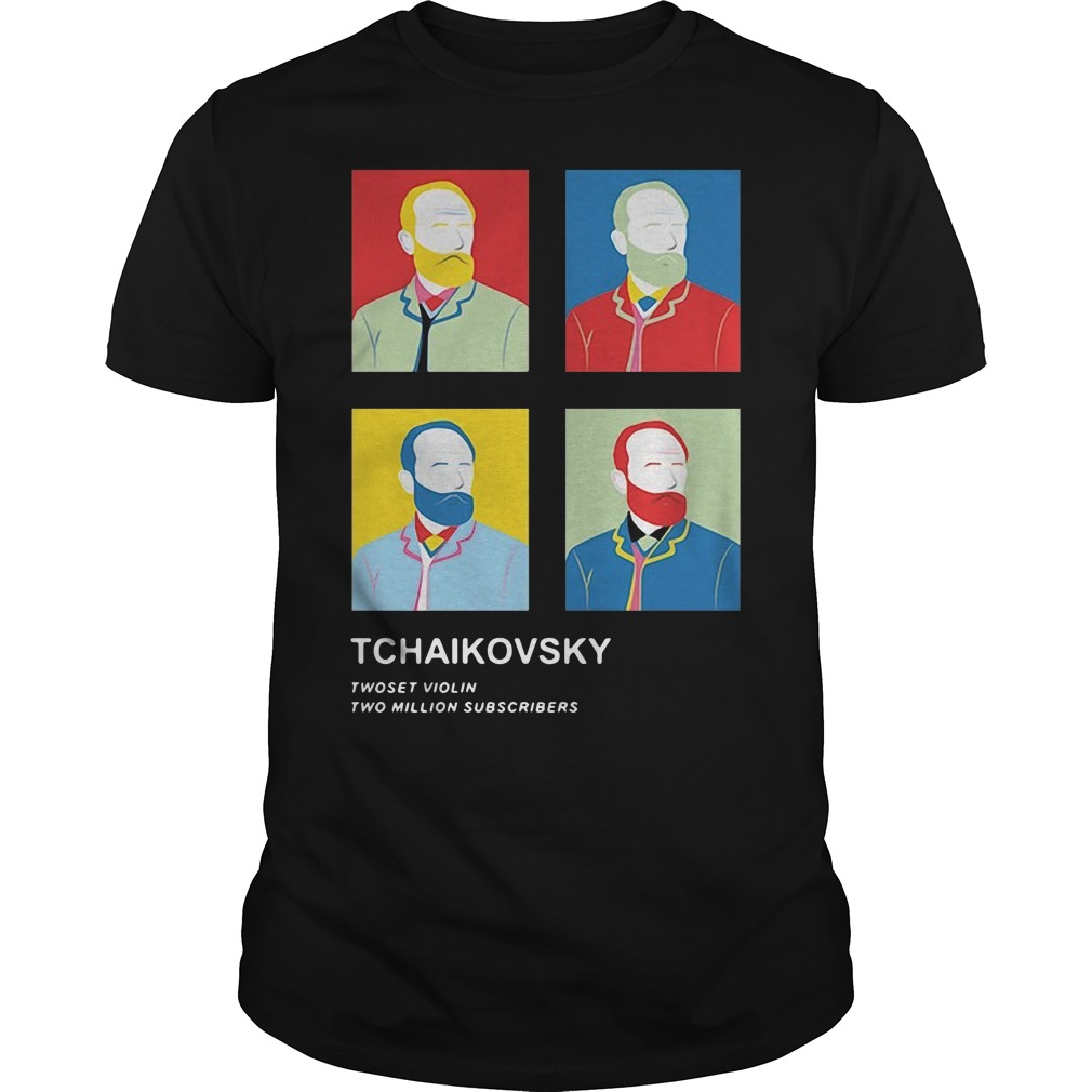 Tchaikovsky Twoset Violin Two Million Subscribers Shirt
