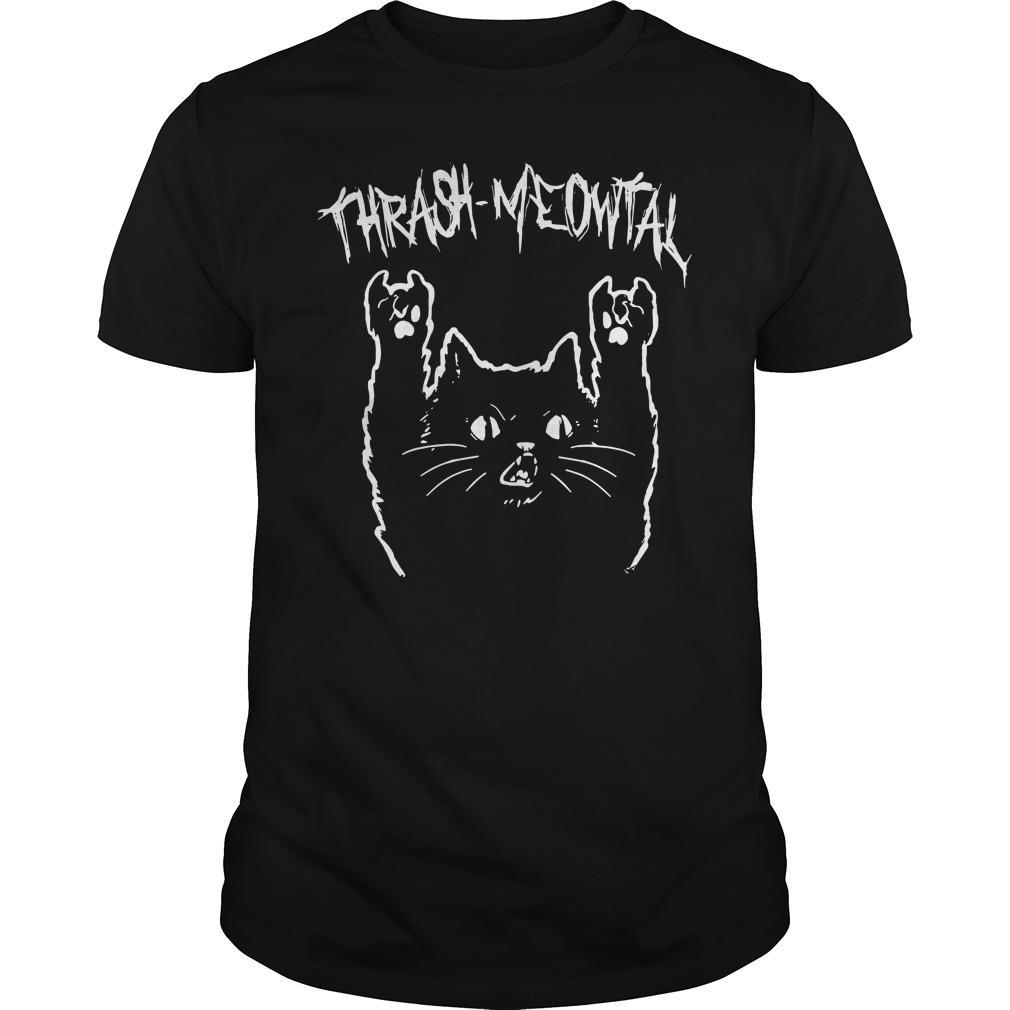 Thrash Meowtal Cat Shirt