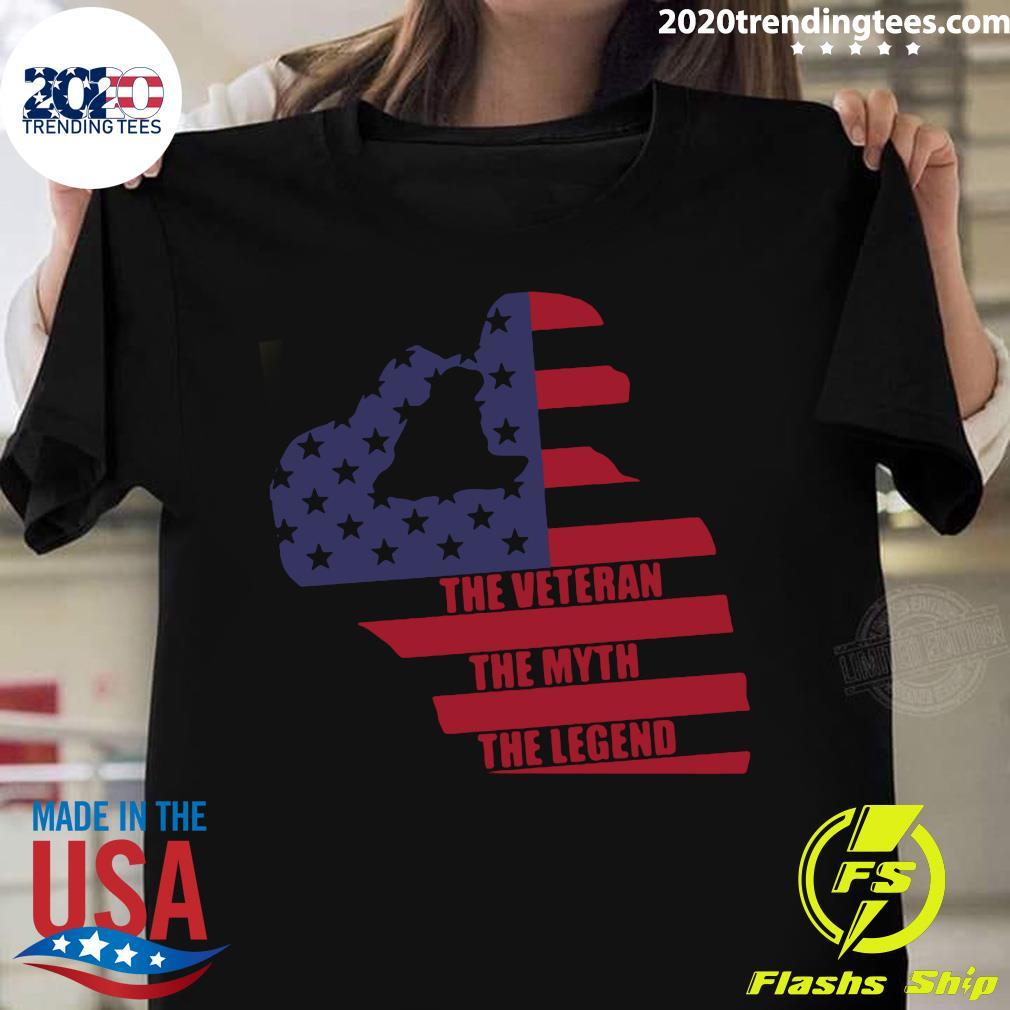 American The Veteran The Myth The Legend Shirt