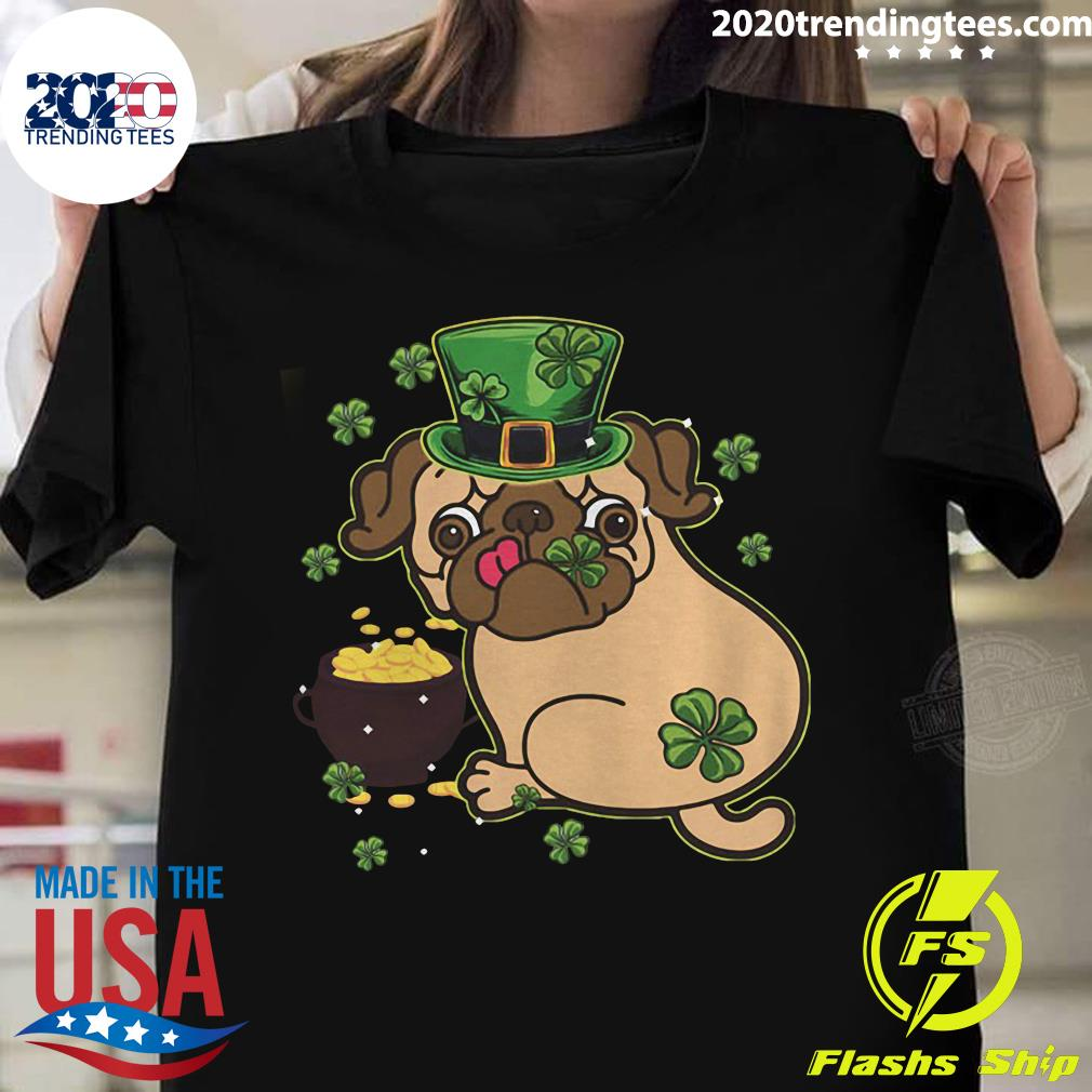 Official St Patricks Day Pug Dog Shirt