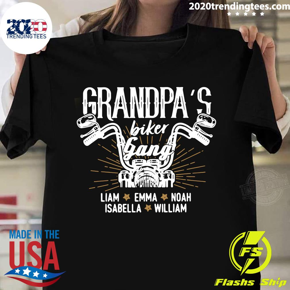 Personalized Funny Grandpa Gift For Grandpa Motorcycle Grandpa Grandkids Names Best Grandpa Ever Gift For Dad Motorcycle Shirt