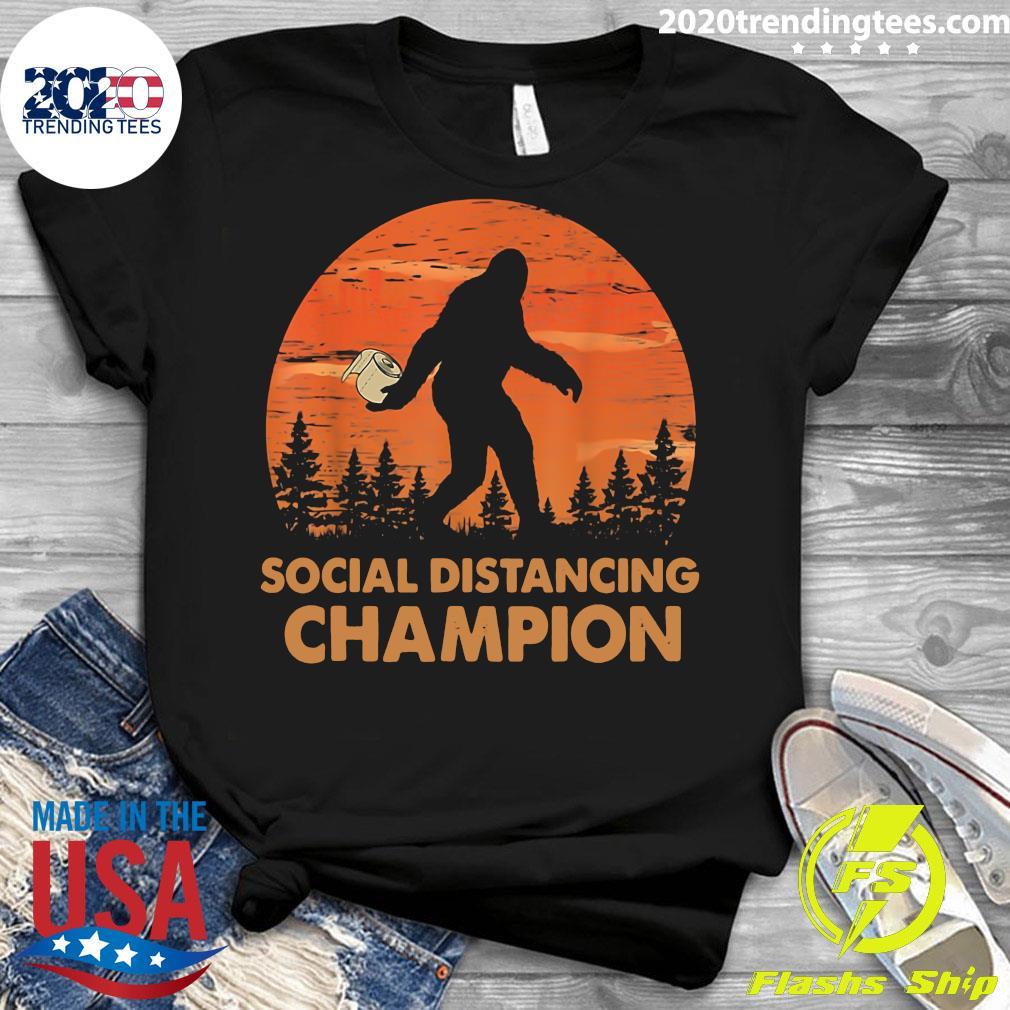 Bigfoot Social Distancing Champion Shirt Ladies tee