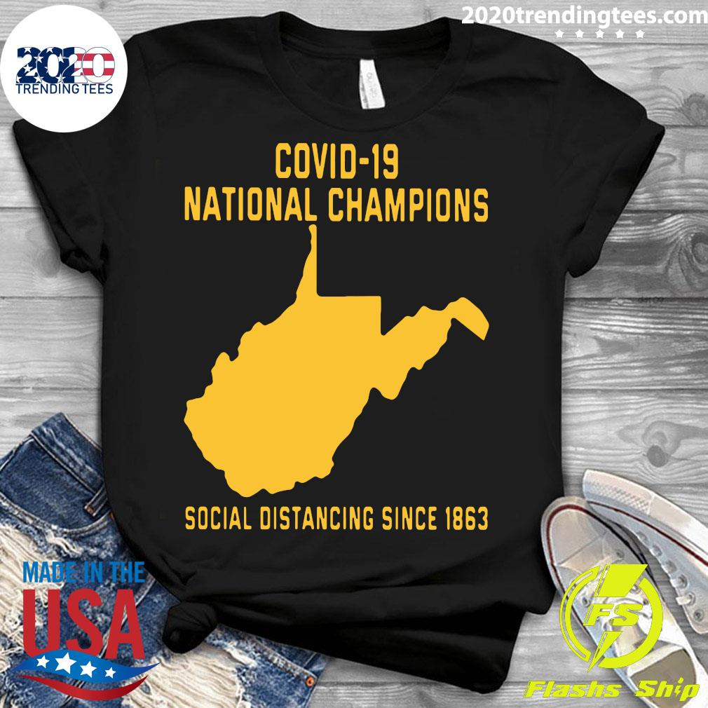 Covid 19 National Champions Social Distancing Since 1863 Shirt Ladies tee