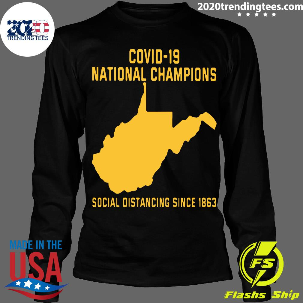 Covid 19 National Champions Social Distancing Since 1863 Shirt Longsleeve