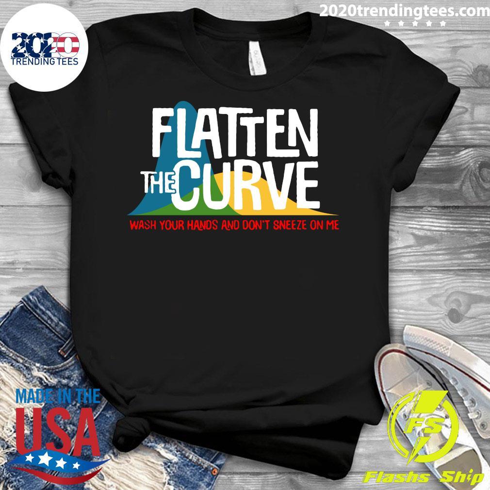 Flatten The Curve Public Health Virus Wash Your Hands Shirt Ladies tee