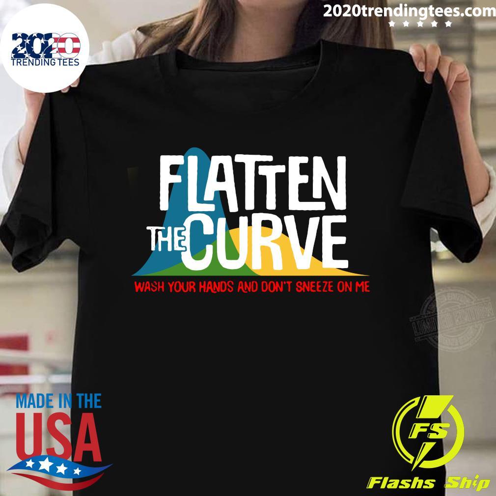 Flatten The Curve Public Health Virus Wash Your Hands Shirt