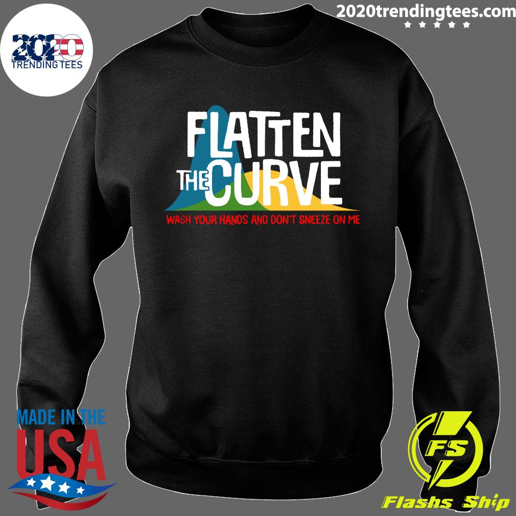 Flatten The Curve Public Health Virus Wash Your Hands Shirt Sweater