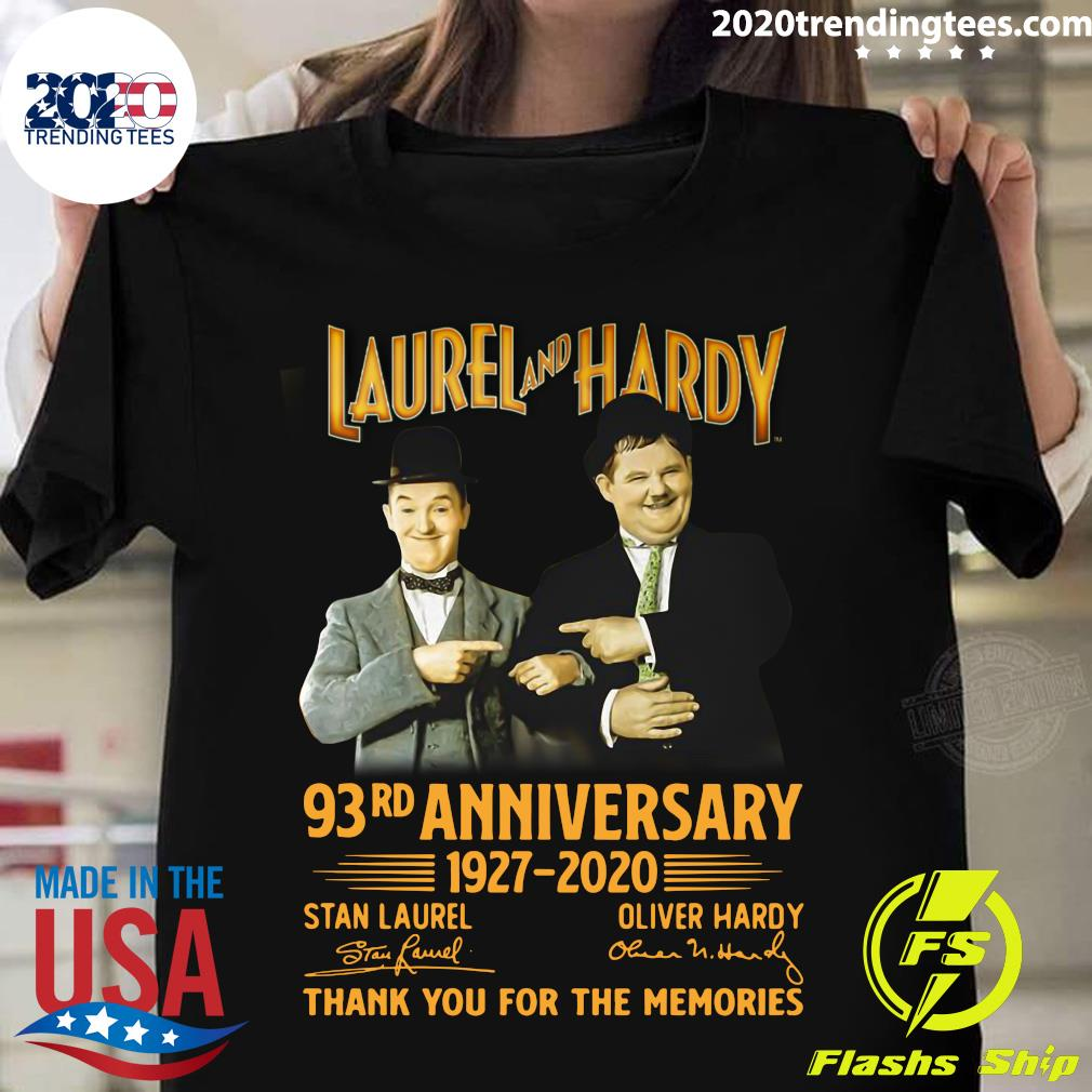 Laurel And Hardy 93rd Anniversary 1927 2020 Thank You For The Memories Shirt