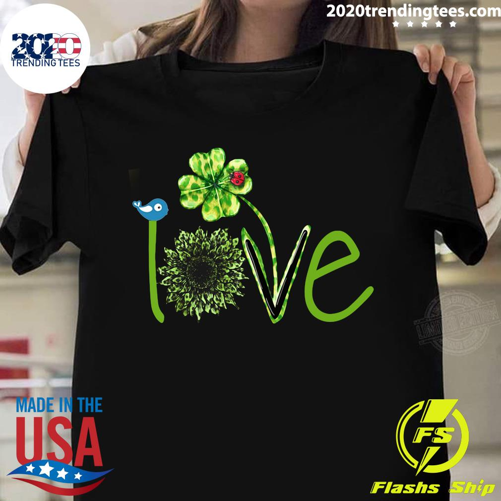 Love Leopard Shamrock Shirt