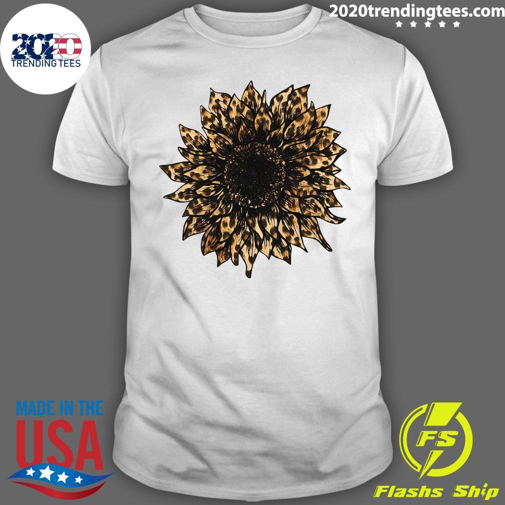 New Style Sunflower Leopard Shirt