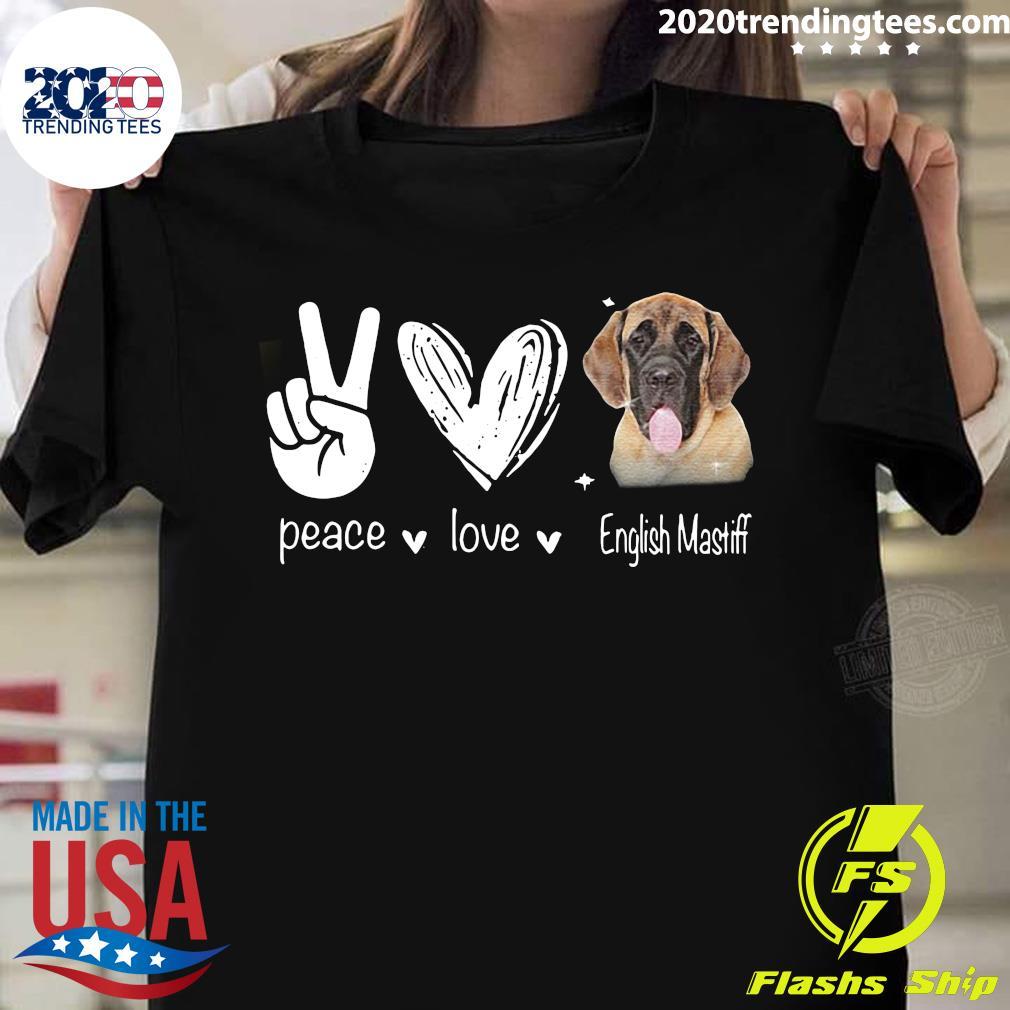 Peace Love English Mastiff Hippie Dog