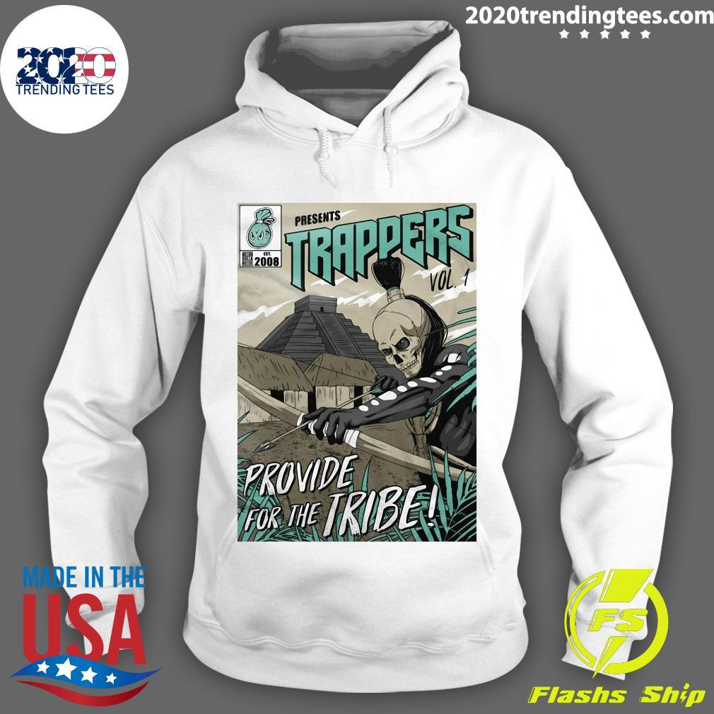 Trappers Comic Vol 1 Island Green On Black Shirt Hoodie