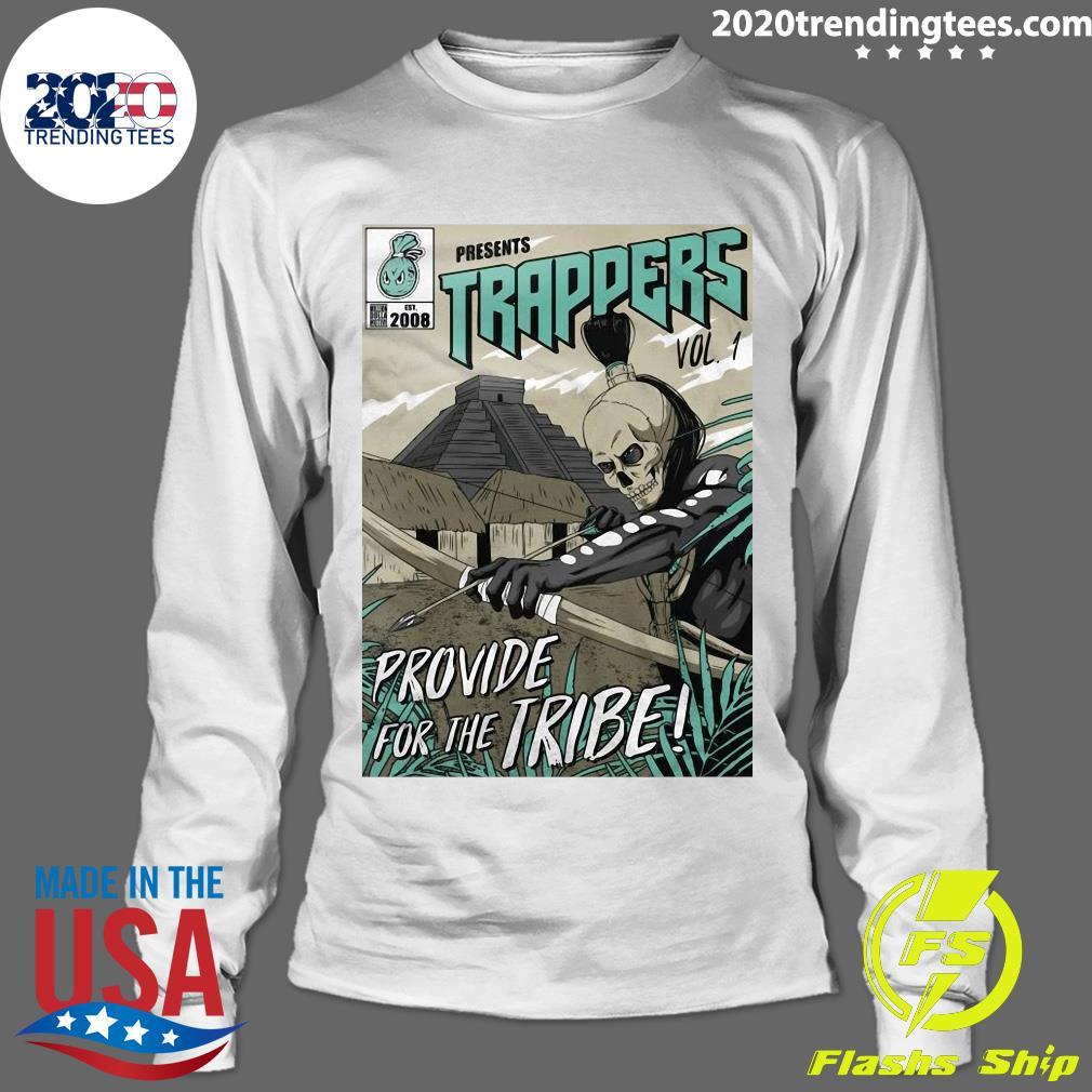 Trappers Comic Vol 1 Island Green On Black Shirt Longsleeve