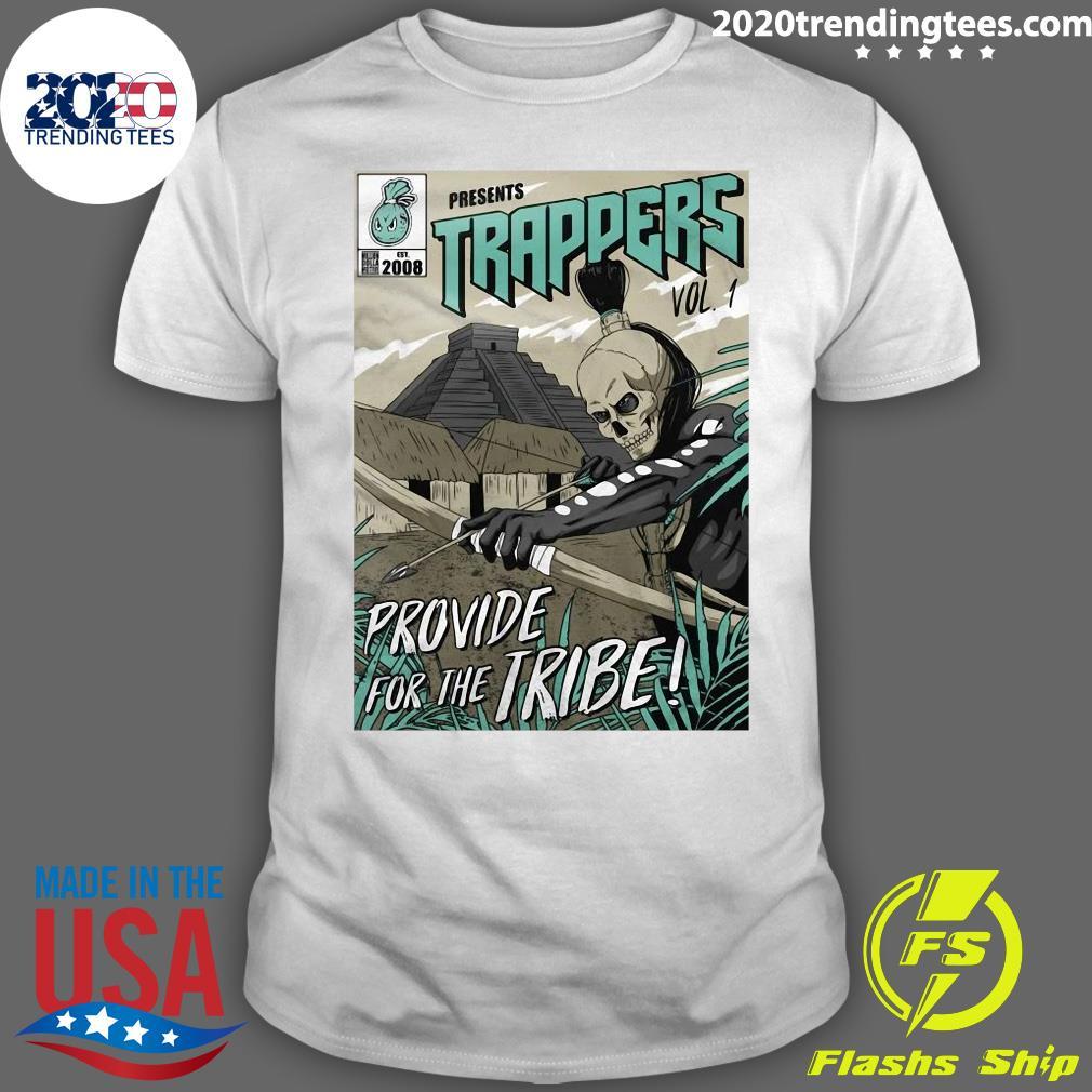 Trappers Comic Vol 1 Island Green On Black Shirt