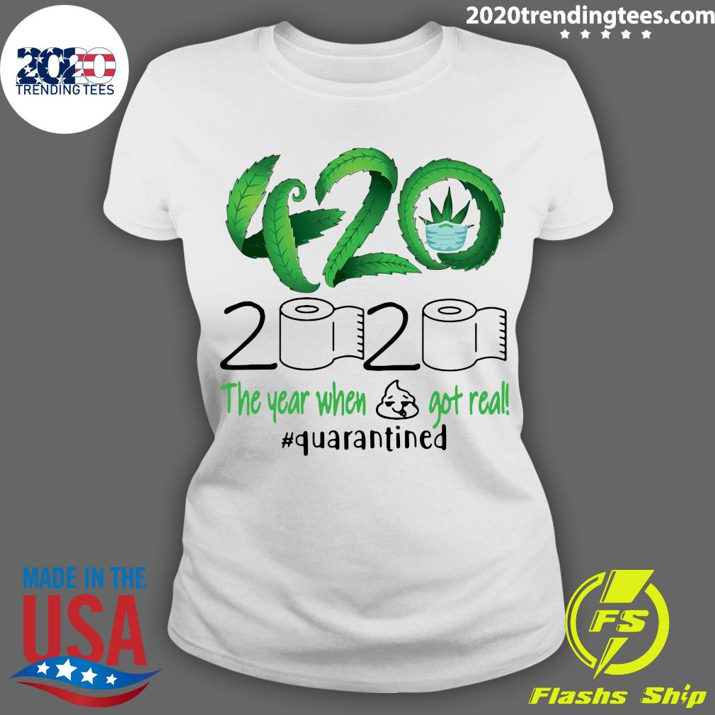 420 Stoner 2020 Quarantined Shirt Ladies tee