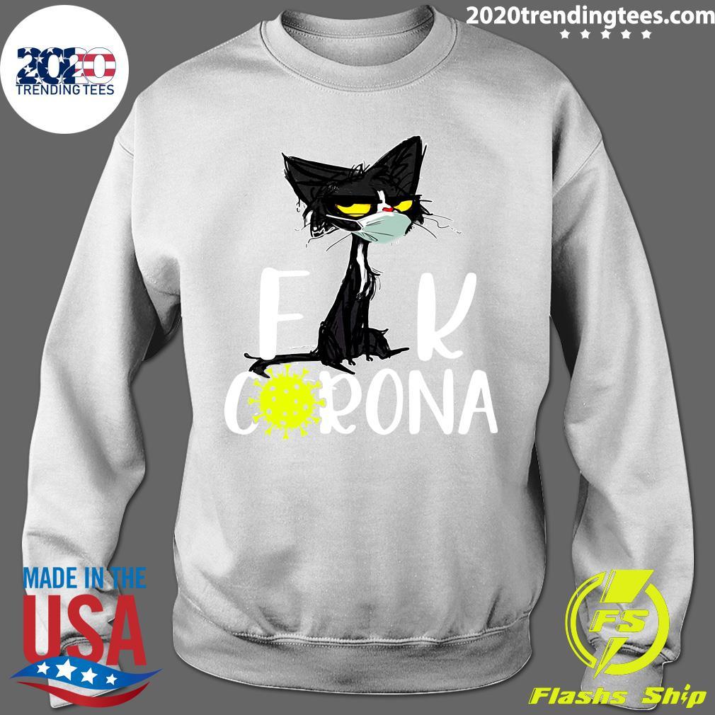 Black Cat Fuck Corona Virus 2020 Shirt Sweater