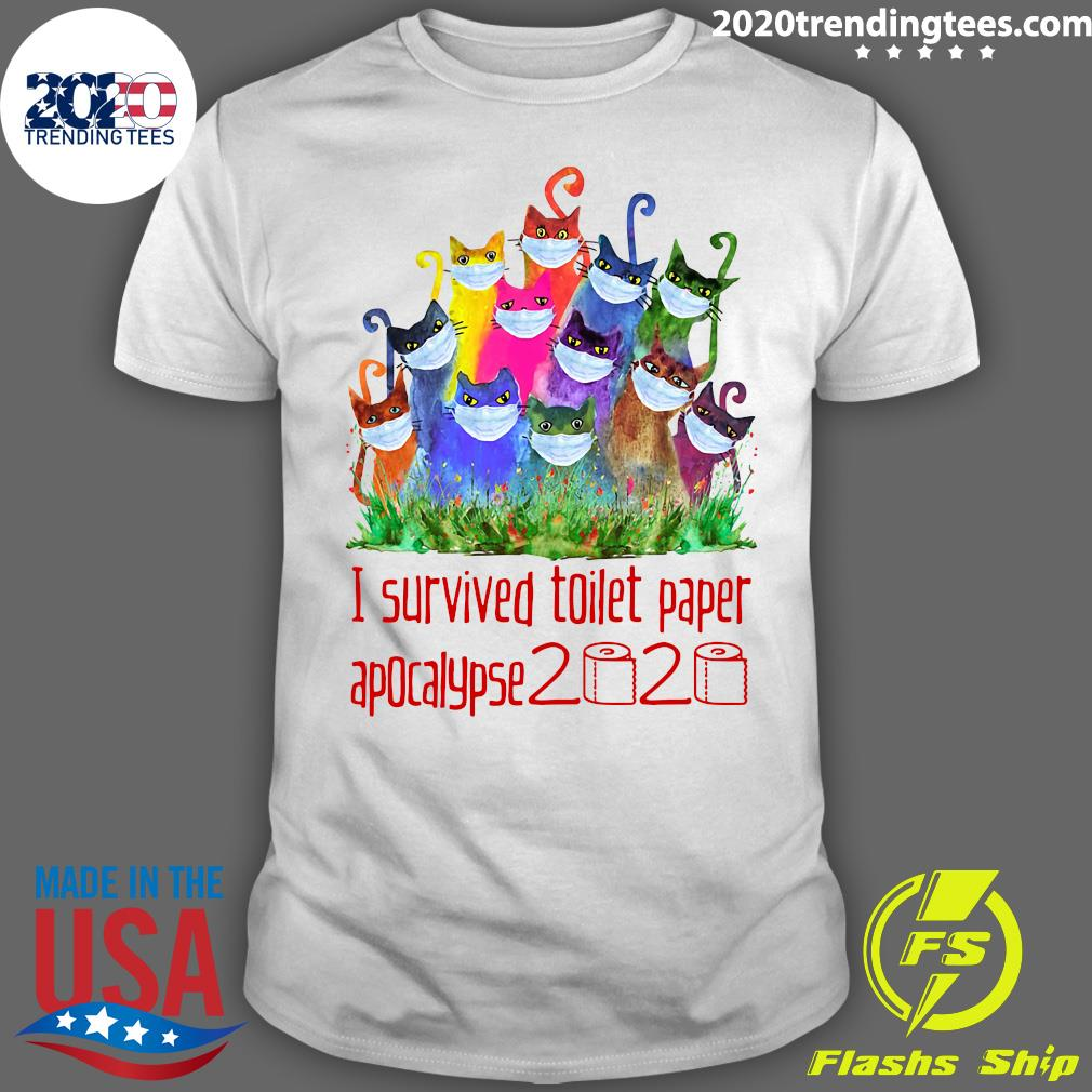 Cats I Survived Toilet Paper Apocalypse 2020 Shirt