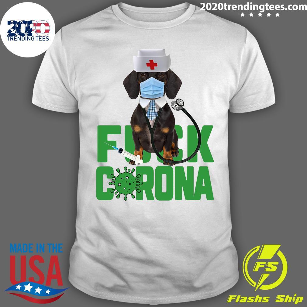Dachshund Fuck Corona Shirt