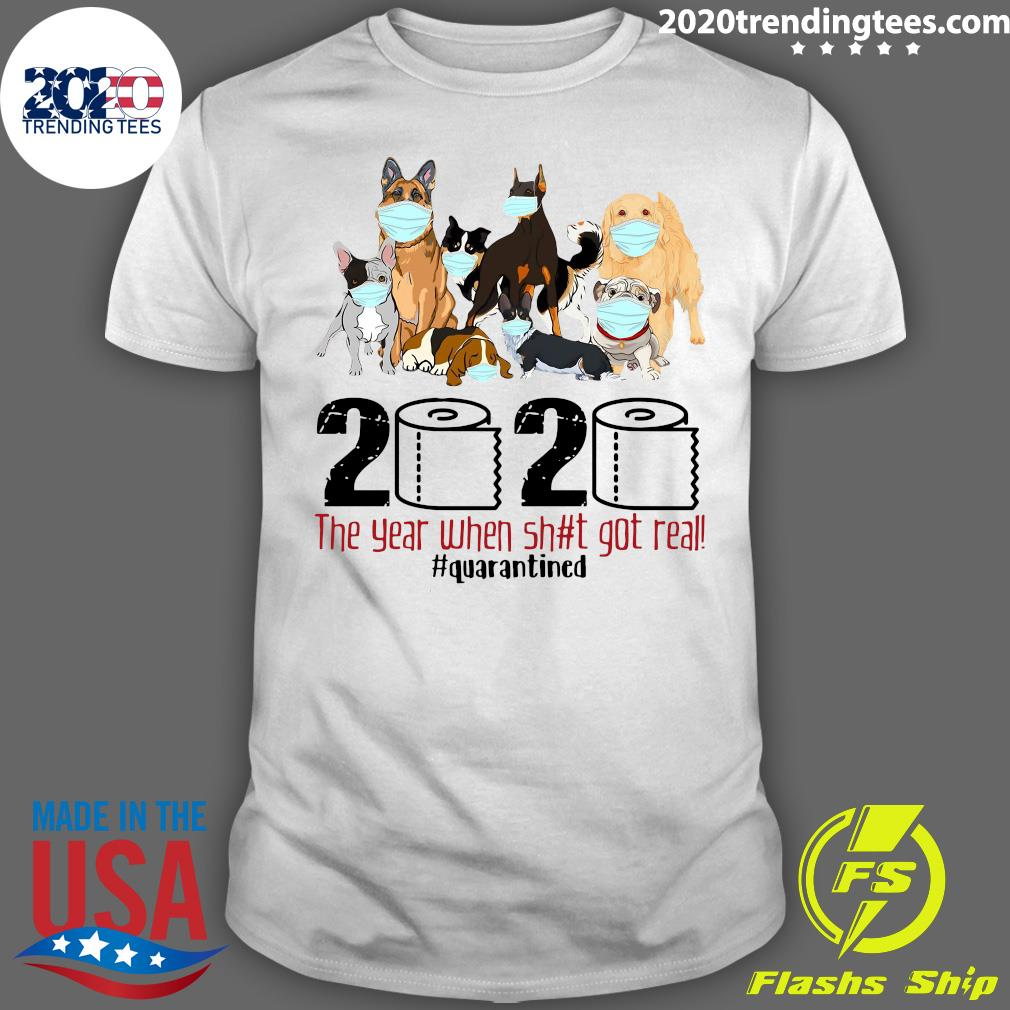 Funny Dogs COVID 19 #Quarantined 2020 Shirt