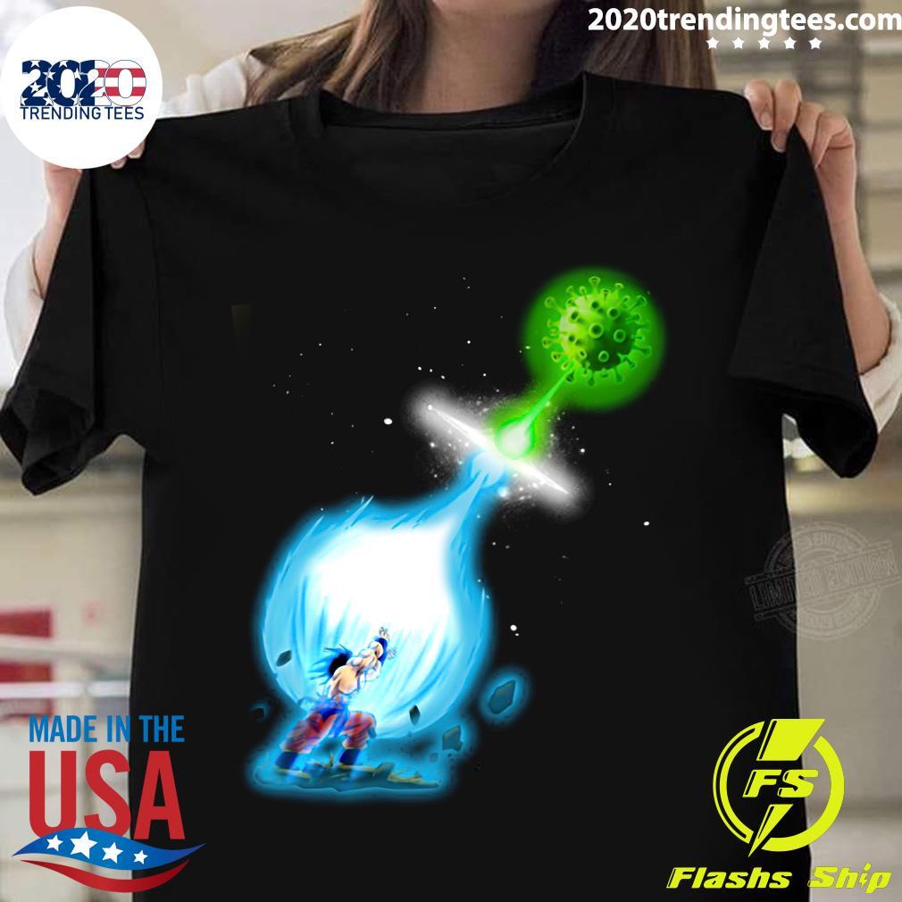 Goku Kamehameha Vs Virus Corona Shirt