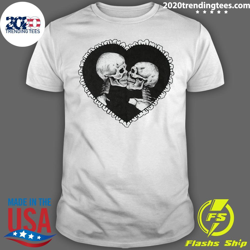 Love After Death Ringer Skeleton Shirt