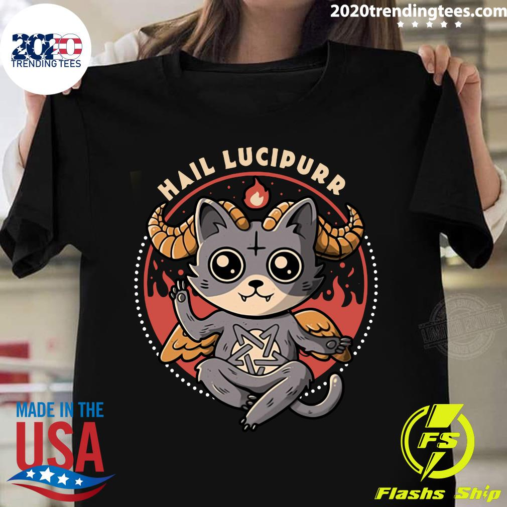 Satan Cat Hail Lucipurr Shirt