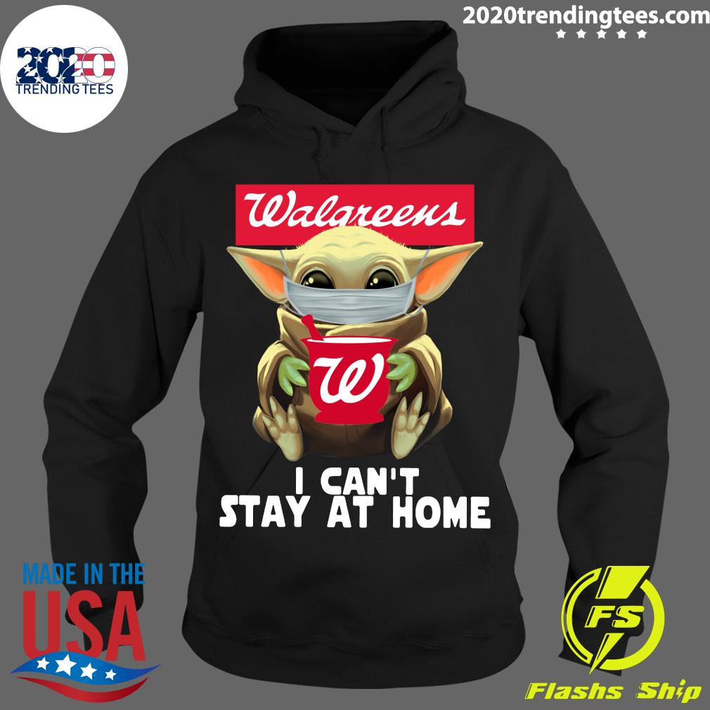 Star Wars Baby Yoda Face Mask Walgreens Can't Stay At Home Shirt Hoodie