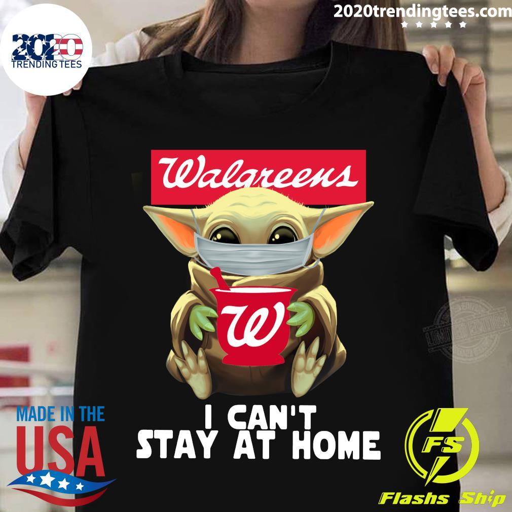 Star Wars Baby Yoda Face Mask Walgreens Can't Stay At Home Shirt
