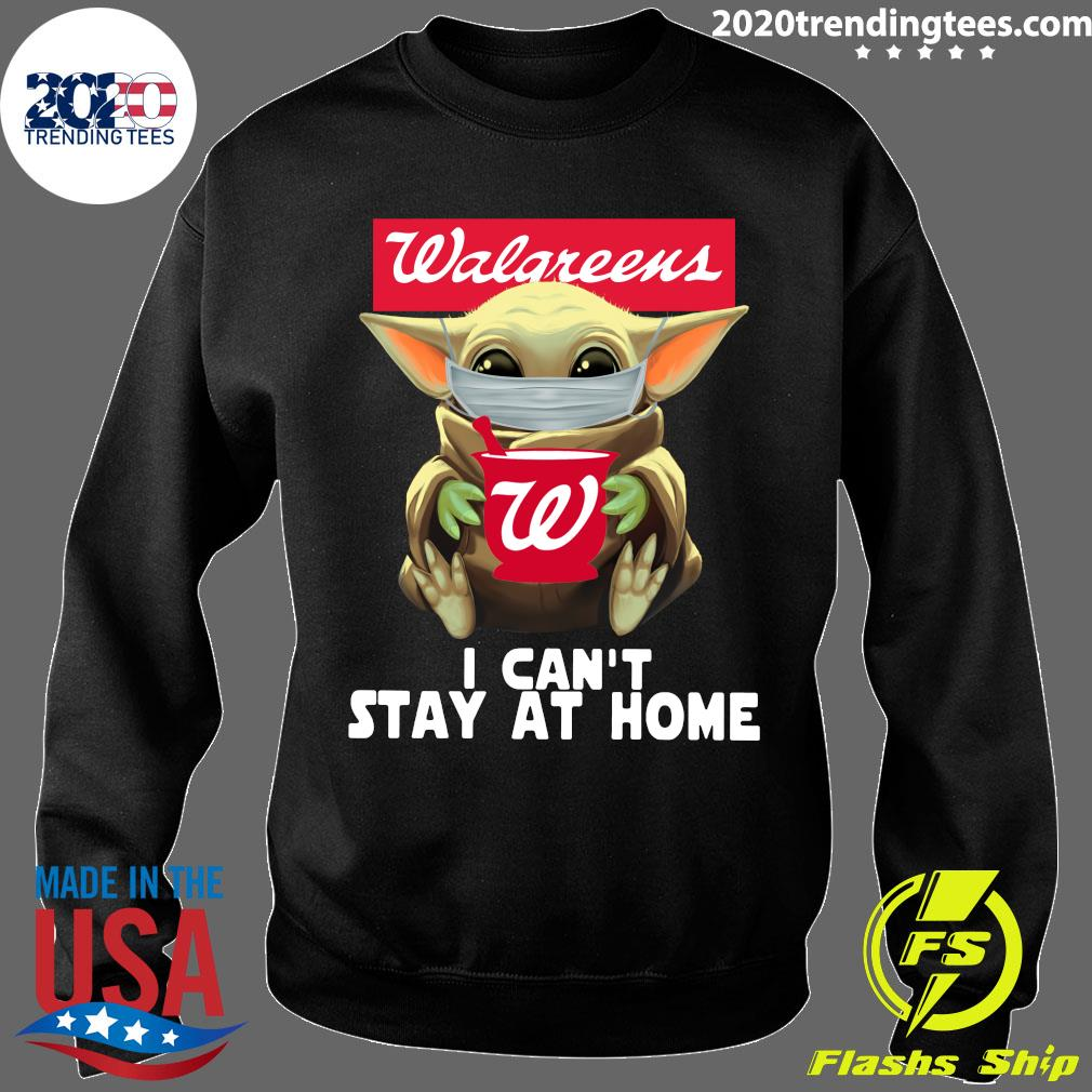 Star Wars Baby Yoda Face Mask Walgreens Can't Stay At Home Shirt Sweater