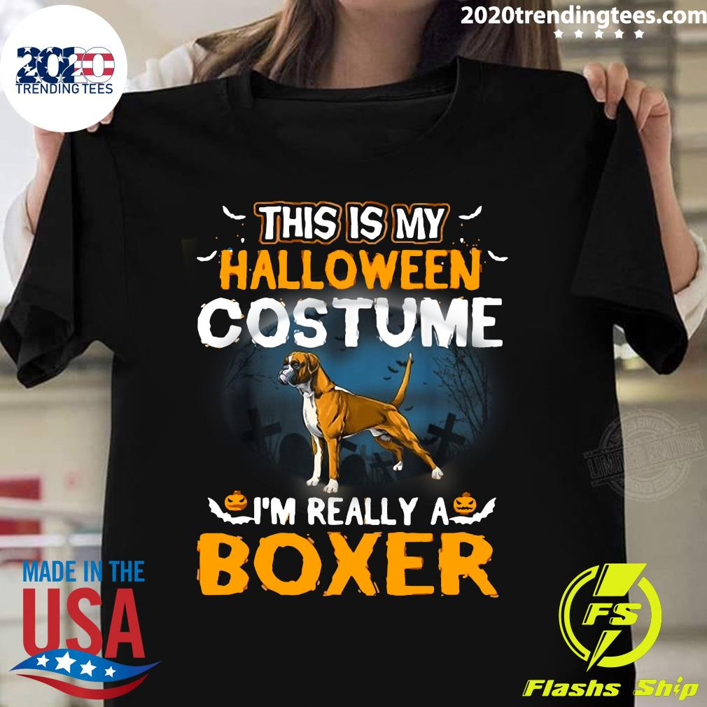 This Is My Halloween Costume I'm Really A Boxer Shirt