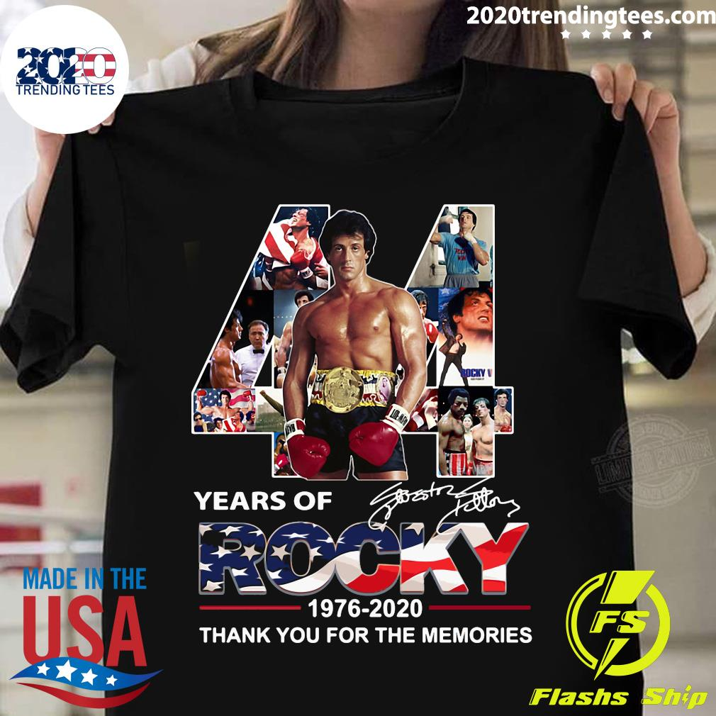 44 Years Of Rocky 1976 2020 Signature Thank You For The Memories Shirt