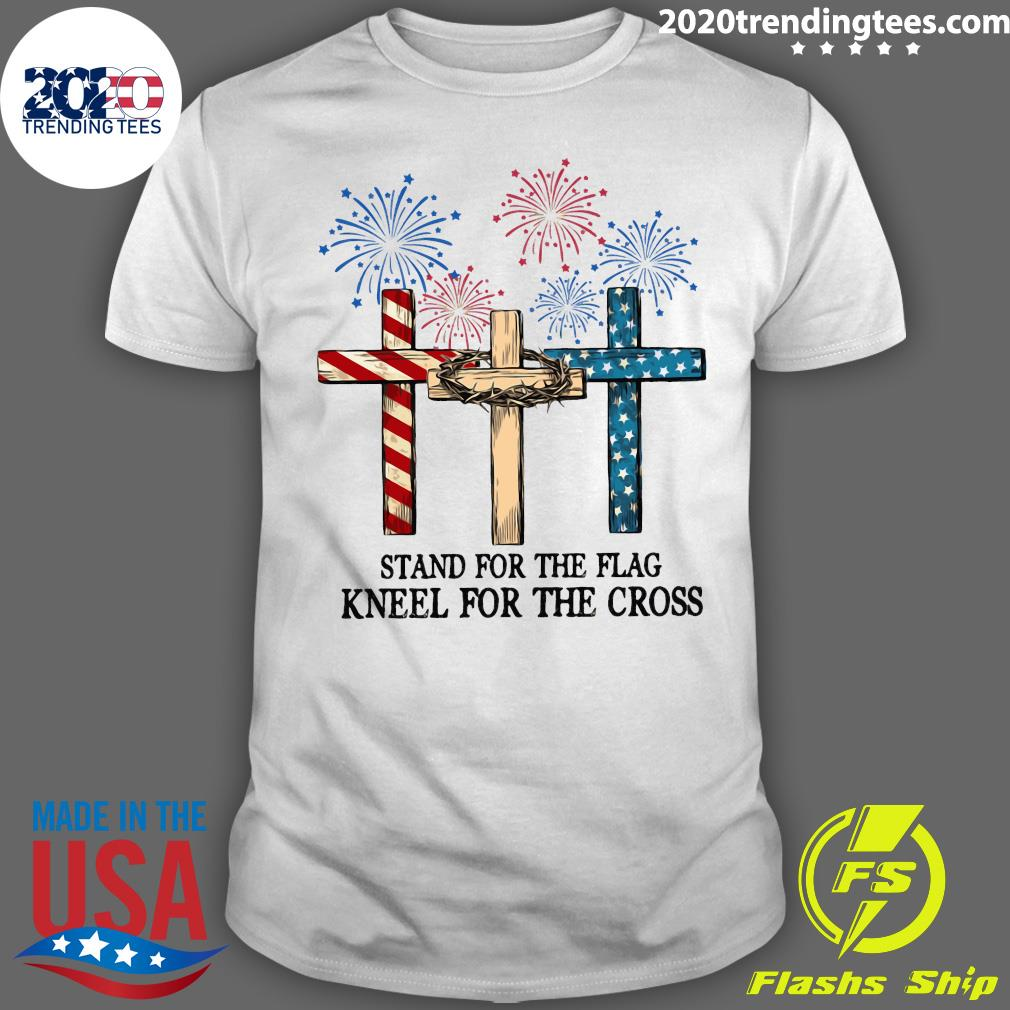 American Flag Stand For The Flag Kneel For The Cross Shirt