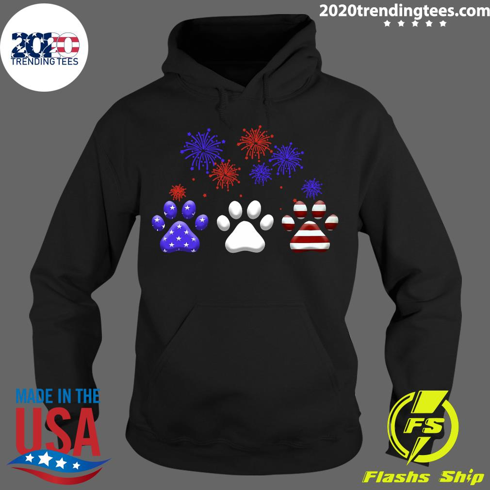 American Independence Day Paw Dog Shirt Hoodie