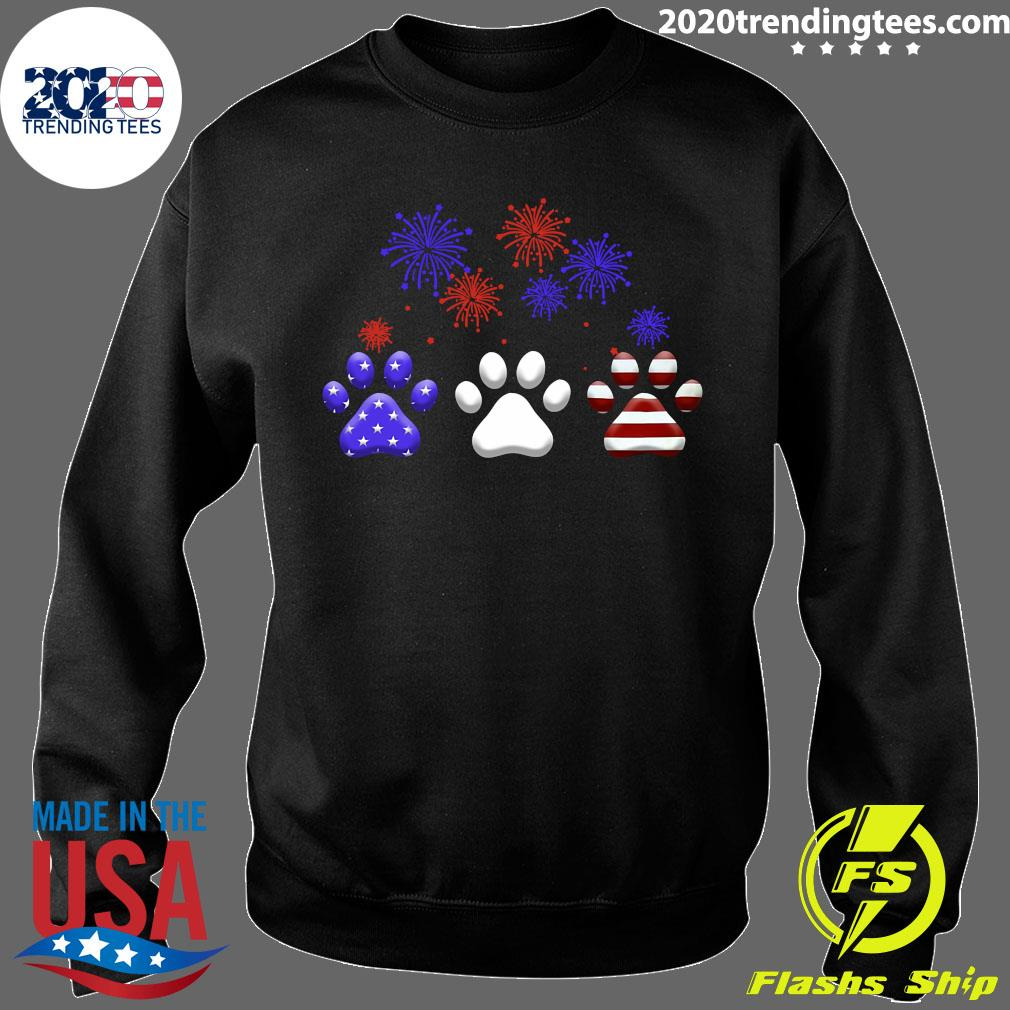 American Independence Day Paw Dog Shirt Sweater