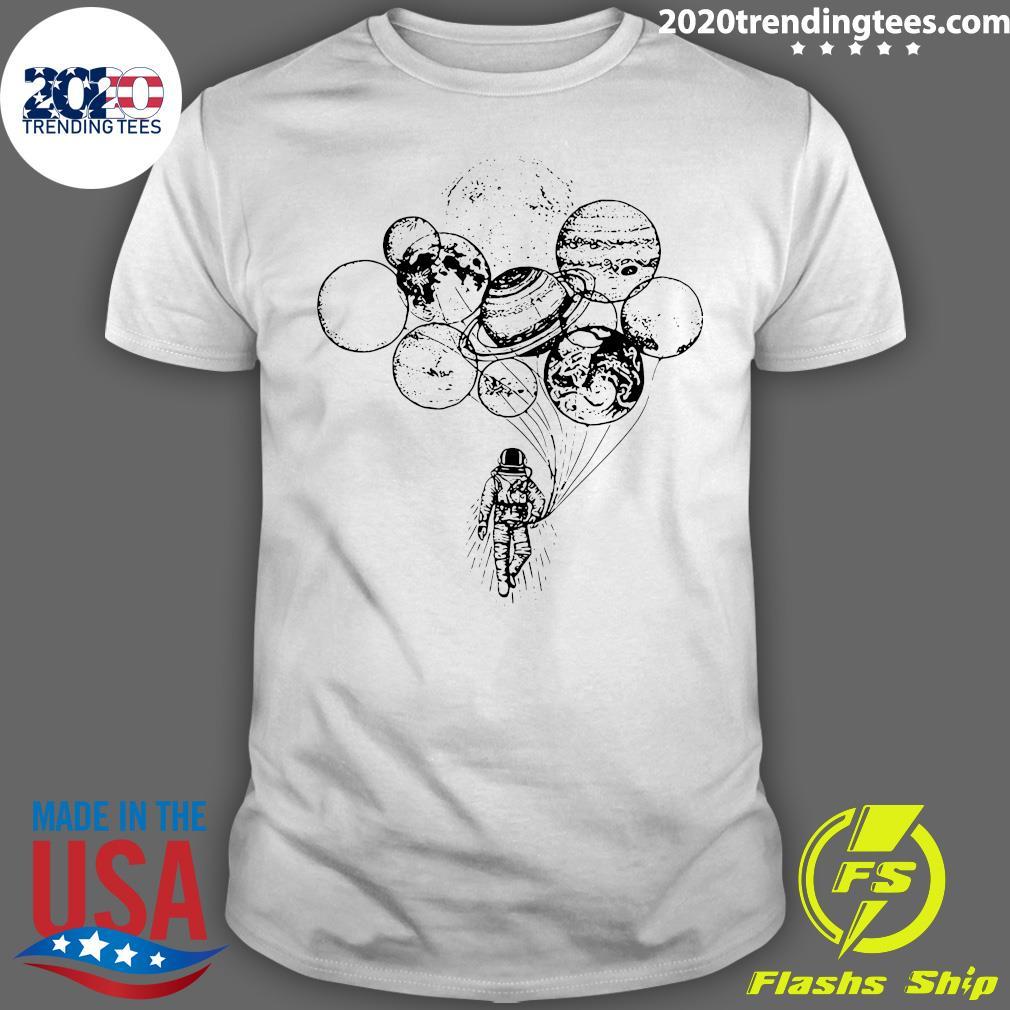 Astronaut Planet Solar Balloon shirt