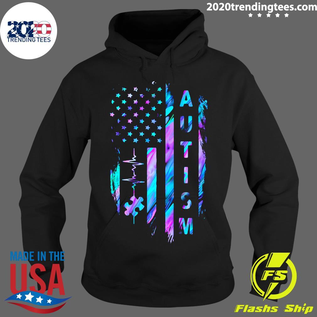 Autism Awareness American Flag Shirt Hoodie