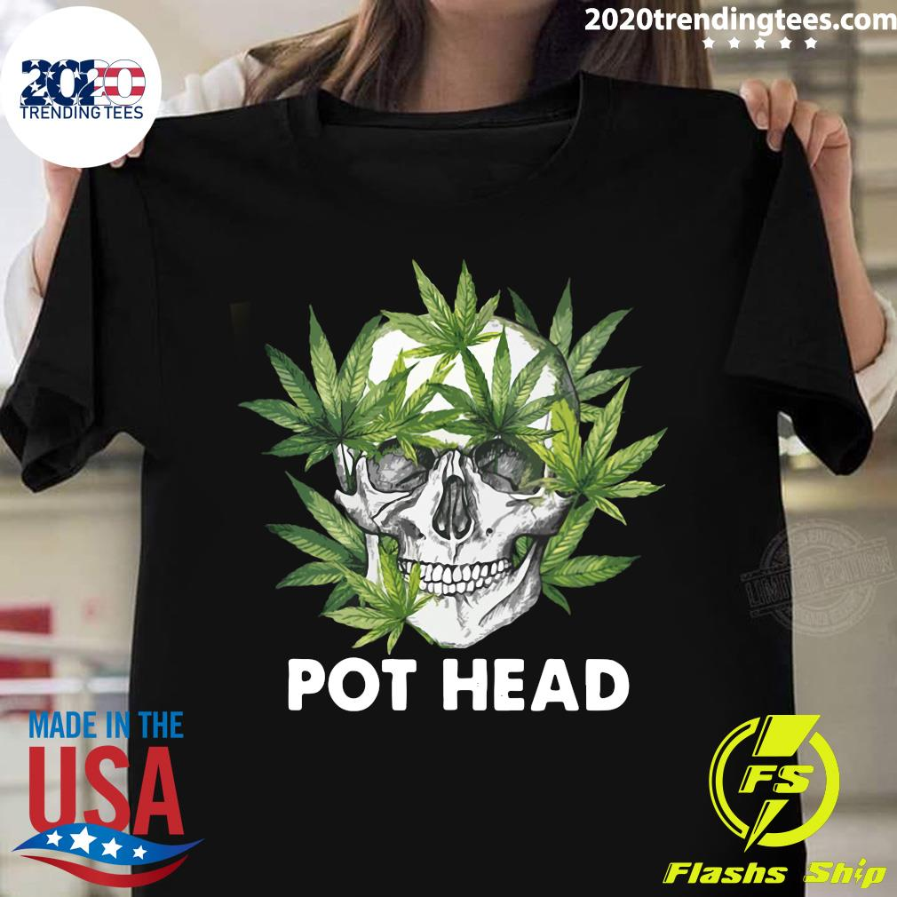 Cannabis Skull Weed Pot Head Shirt
