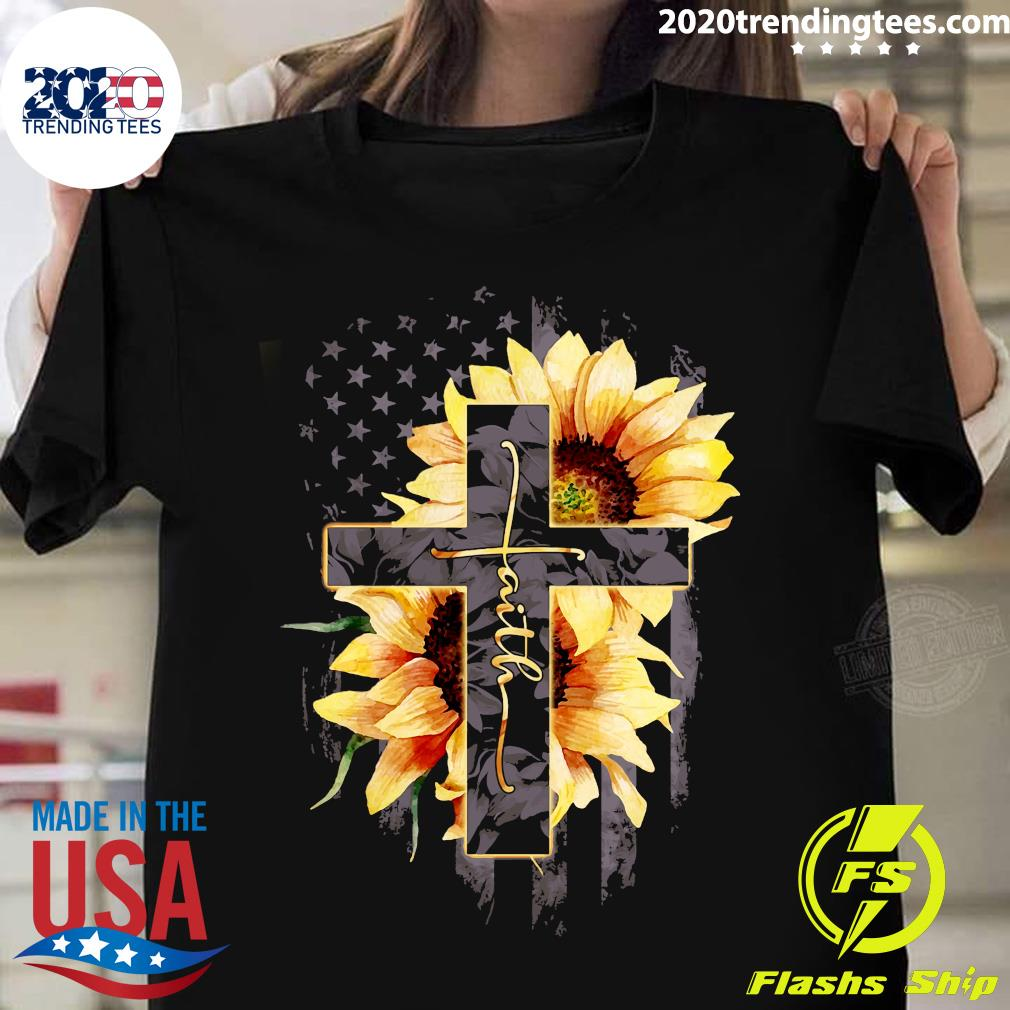 Faith Sunflower Flag Shirt